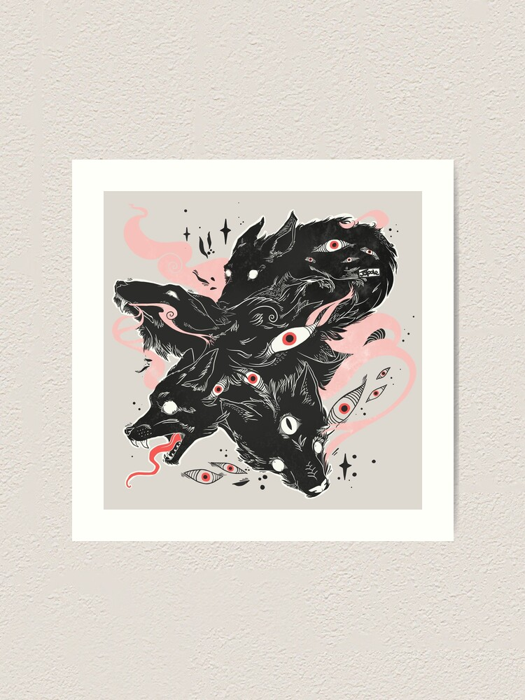 Alternate view of Wild Wolves With Many Eyes Art Print
