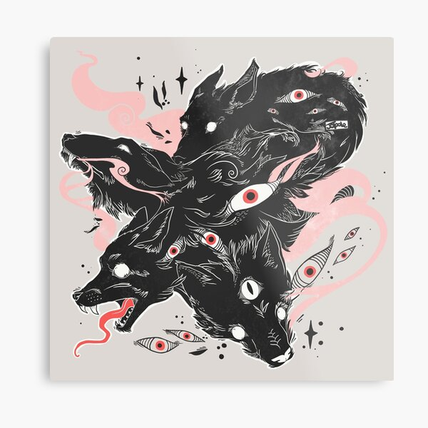 Wild Wolves With Many Eyes Metal Print