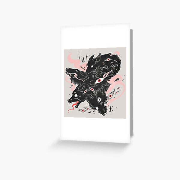 Wild Wolves With Many Eyes Greeting Card