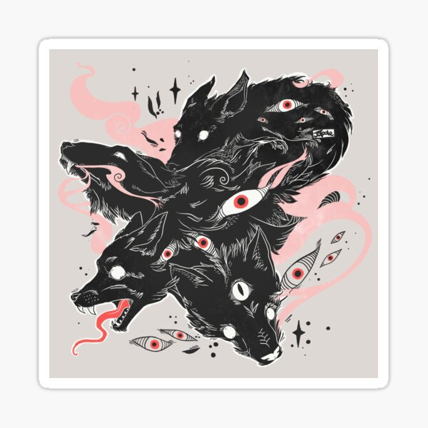 Wild Wolves With Many Eyes Sticker