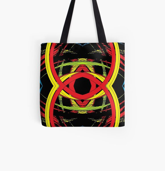 design, illustration, art, decoration, abstract, pattern, element, shape, gold colored, textured, colors, circle, styles, shiny, square All Over Print Tote Bag