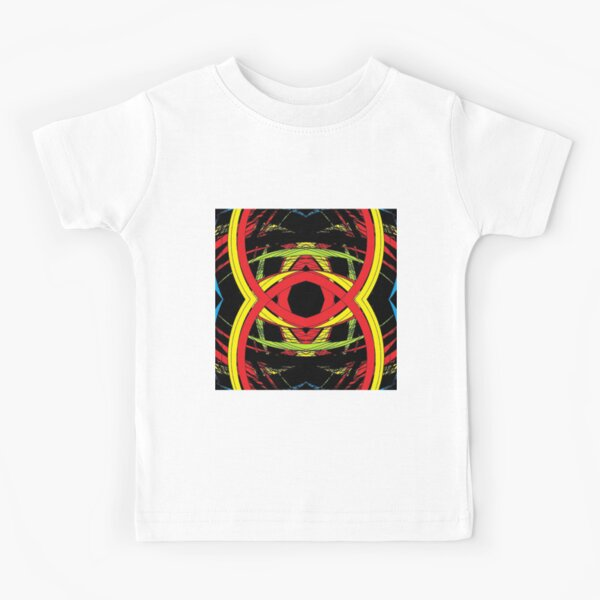 design, illustration, art, decoration, abstract, pattern, element, shape, gold colored, textured, colors, circle, styles, shiny, square Kids T-Shirt