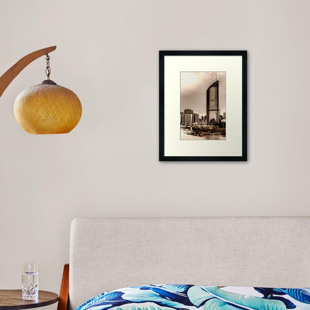 Brisbane city Framed Art Print