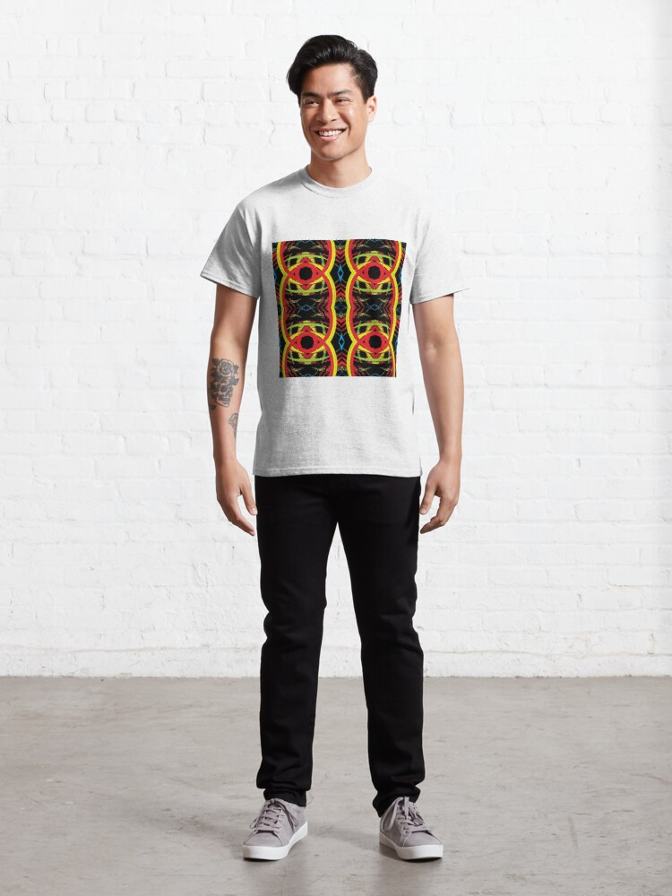 Alternate view of pattern, design, abstract, decoration, vector, art, illustration, shape, ornate, textured, geometric shape, retro style, circle, seamless pattern, styles, square Classic T-Shirt