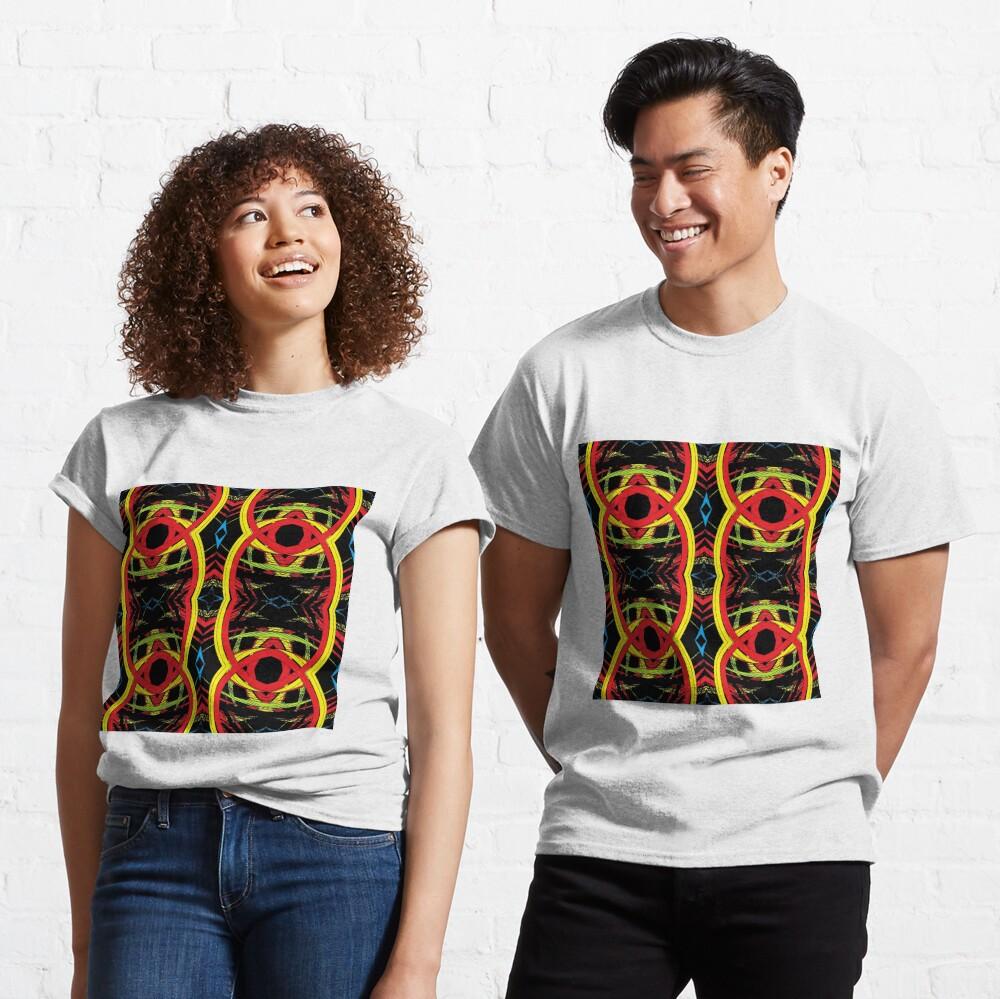 pattern, design, abstract, decoration, vector, art, illustration, shape, ornate, textured, geometric shape, retro style, circle, seamless pattern, styles, square Classic T-Shirt
