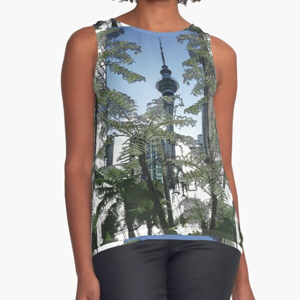 Auckland Sky Tower Tree Fern Sleeveless Top