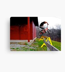Biking King Canvas Print