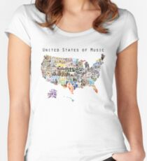 United States of Music Women's Fitted Scoop T-Shirt