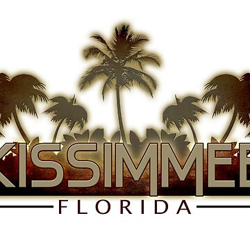 Kissimmee Florida palm tree words by artisticattitud