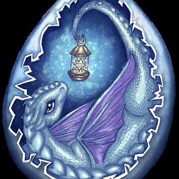 Blue Star Dragon, Baby Dragon by NicholiCosplay