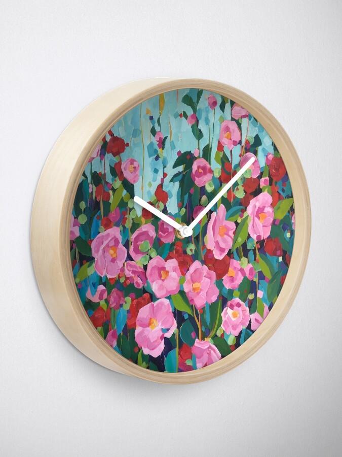 Alternate view of Camellias for Samantha Clock