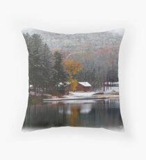 First Snow of 2009 Throw Pillow
