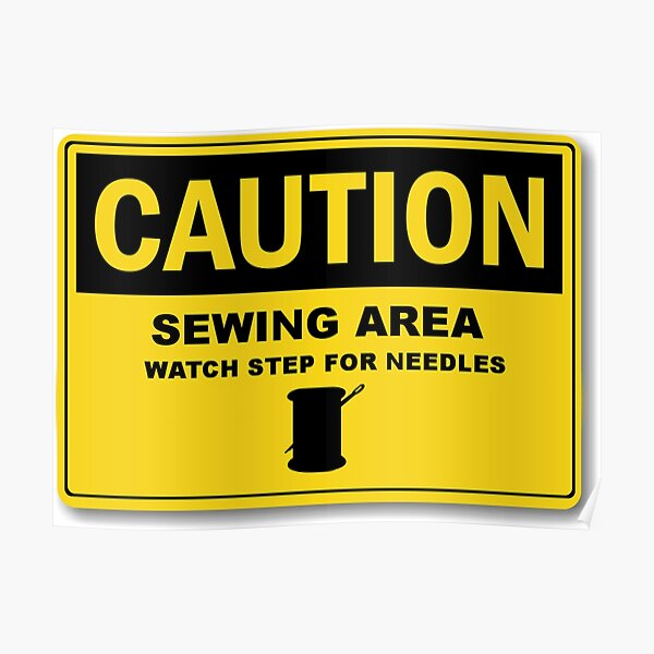 Sewing Area Sign Poster