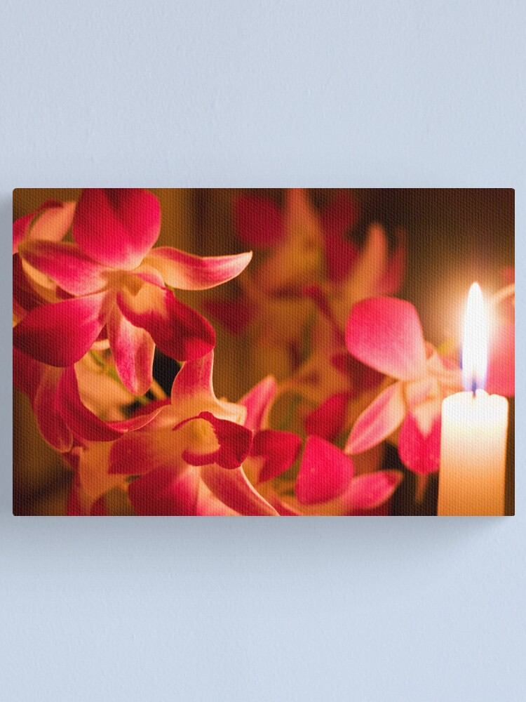 Alternate view of Orchids by Candlelight Canvas Print