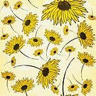 Yellow florals by Deana Greenfield