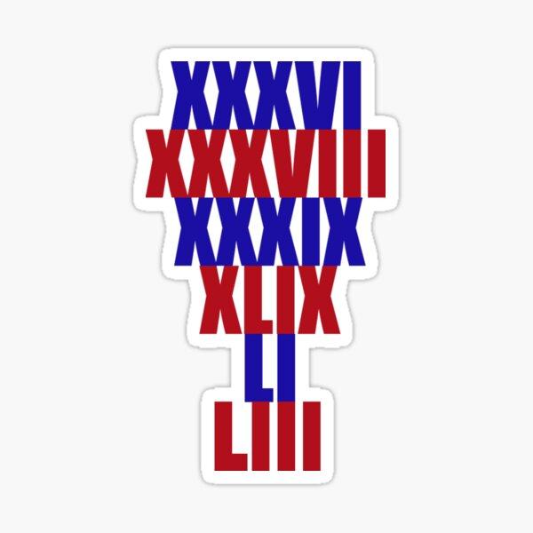 Patriots Titles Sticker