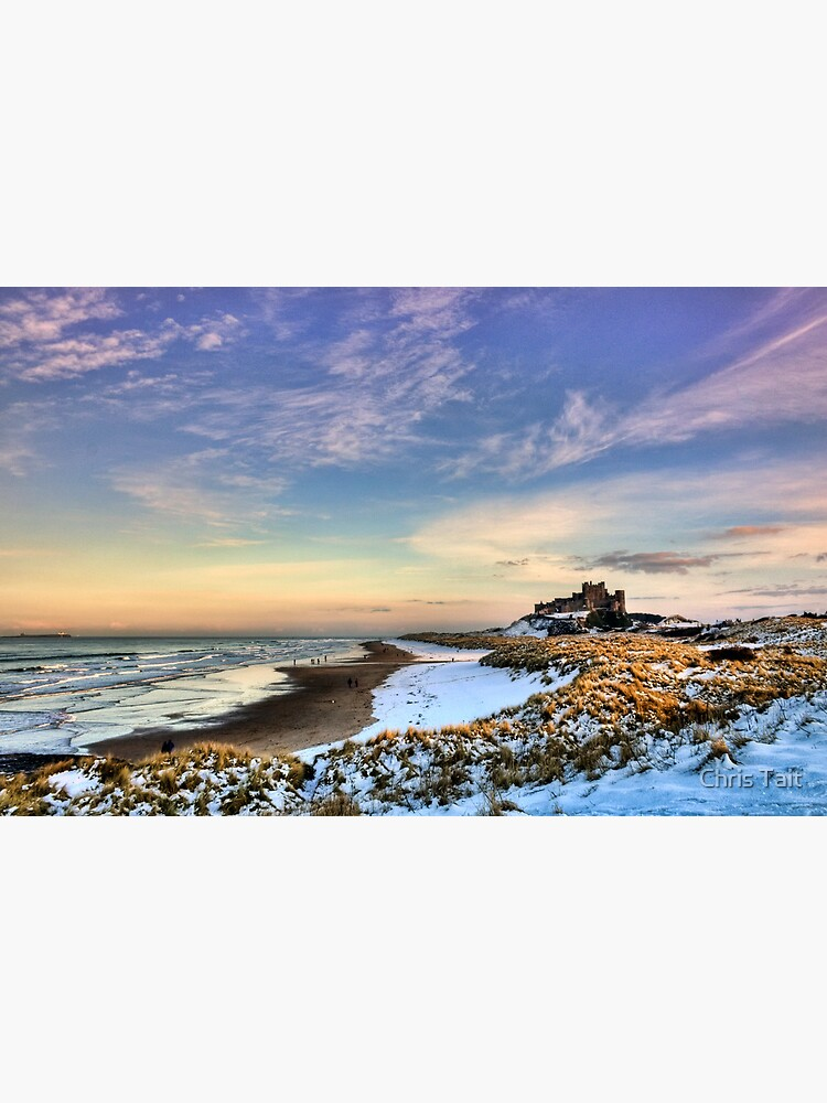 Bamburgh Castle in the Snow by christait
