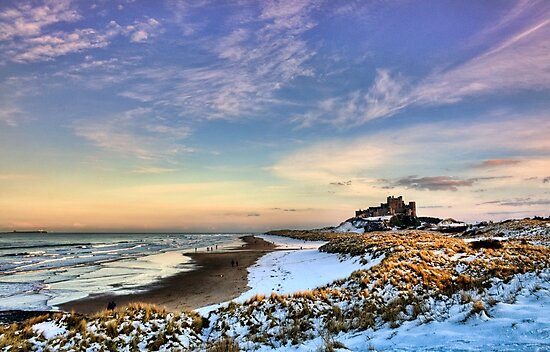 Bamburgh Castle in the Snow by Chris Tait
