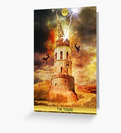 XVI The Tower Greeting Card