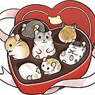 Valentine Hamsters by pawlove