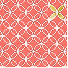 Living Coral retro pattern by Cynthia Haller