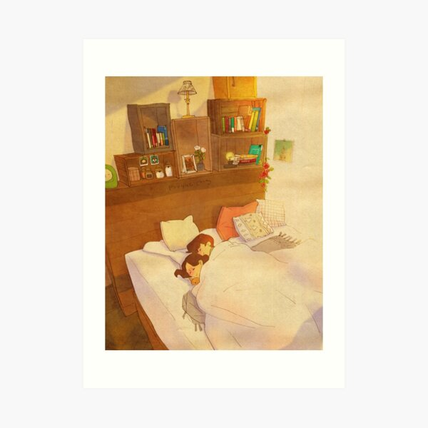 I don't want to go out of bed. Art Print