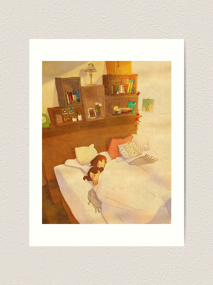 Alternate view of I don't want to go out of bed. Art Print