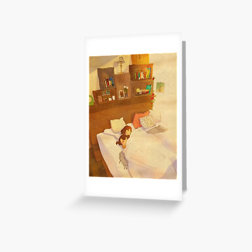 I don't want to go out of bed. Greeting Card