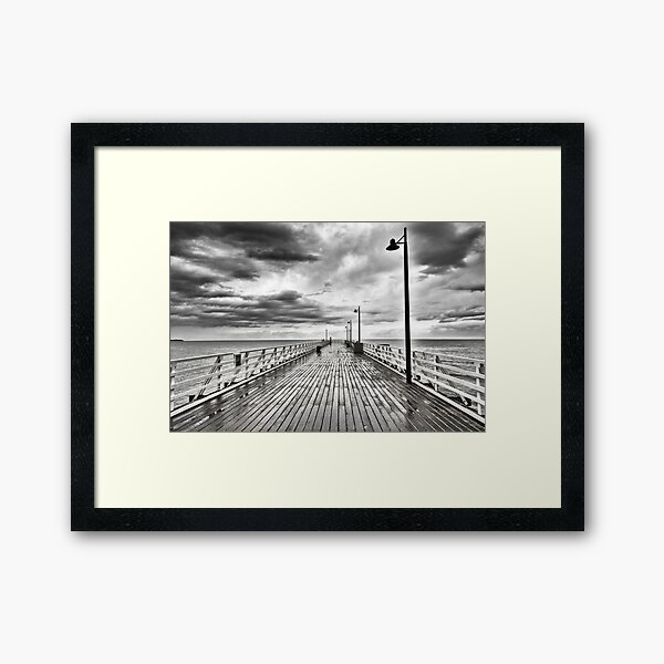 Shorncliffe pier Framed Art Print
