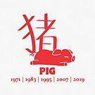 «Años del cerdo | Zodiaco chino» de PikachuRox