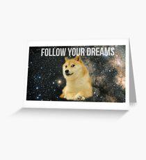 Doge Shibe Meme  Greeting Card