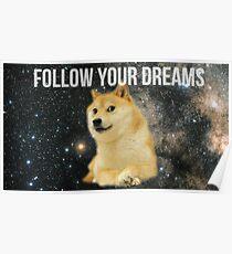 Doge Shibe Meme  Poster