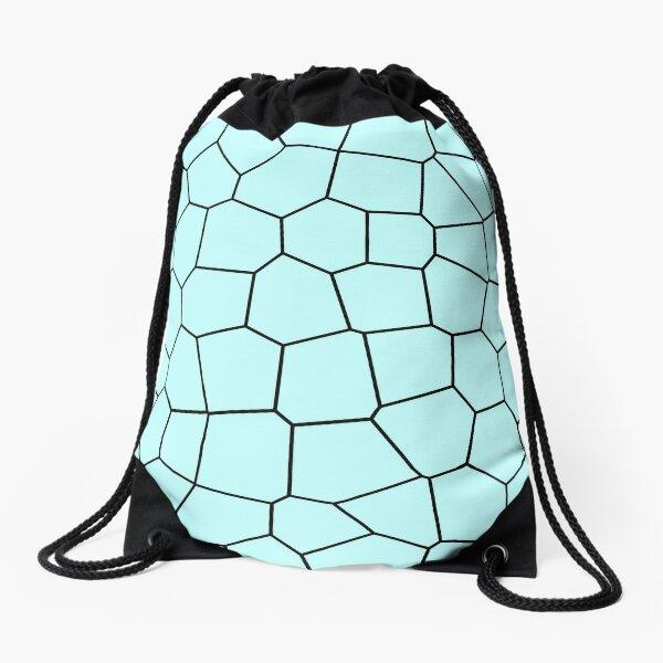 Teal Cellular-ish Design Drawstring Bag