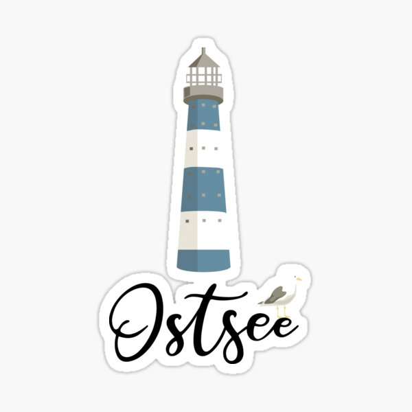 Baltic lighthouse Sticker