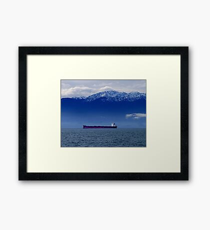 Tanker at Anchor Framed Print