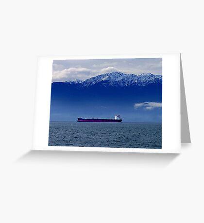 Tanker at Anchor Greeting Card
