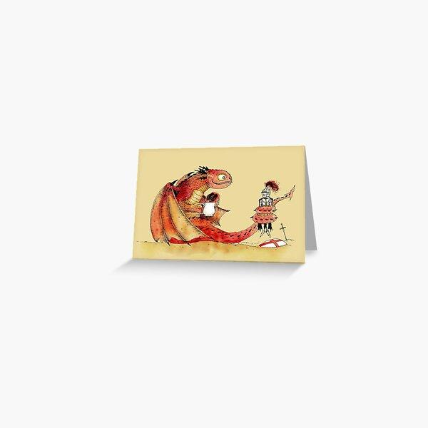 Dragon, tea & Saint George Greeting Card