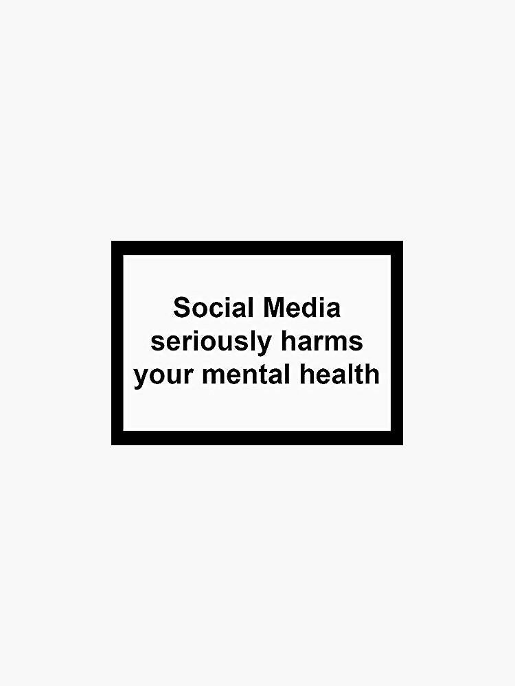 Social Media Seriously Harms Your Mental Health by jasxha