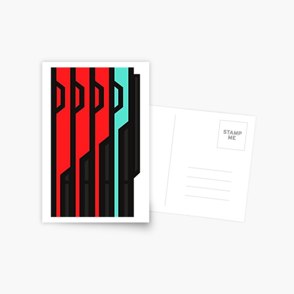 Allagischer Tomestone der Poetik Postkarte