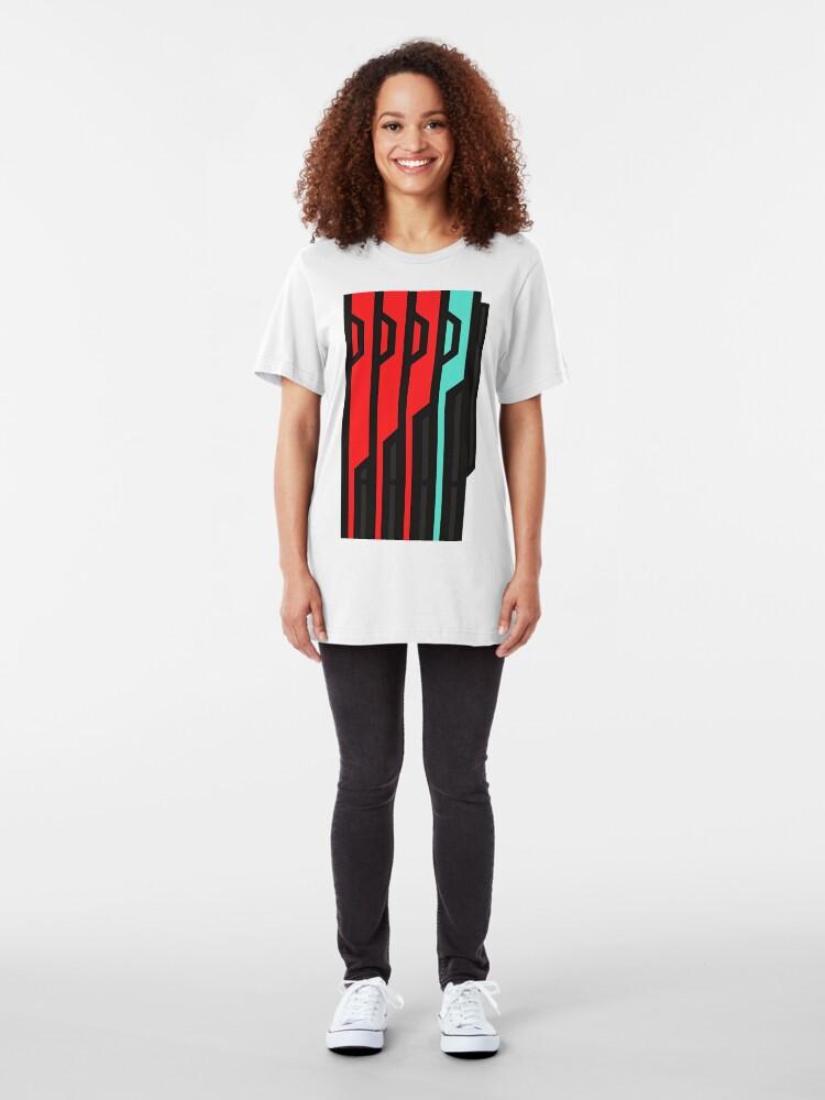 Alternative Ansicht von Allagischer Tomestone der Poetik Slim Fit T-Shirt