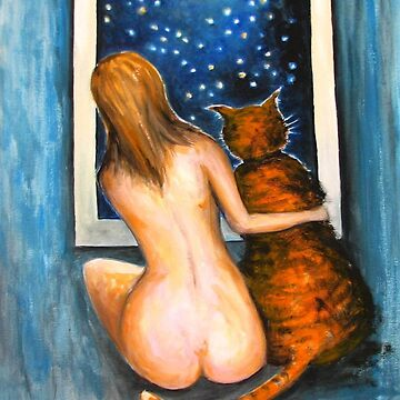 Friends Nude and Cat by belka