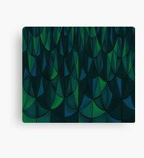 Geometric Sea Scales Canvas Print