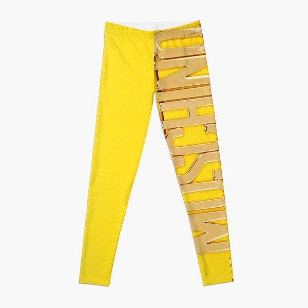 Yellow Bag Moschino Leggings