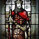 Stained glass knight by Kerry LeBoutillier