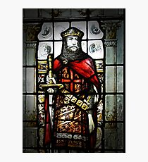 Stained glass knight Photographic Print