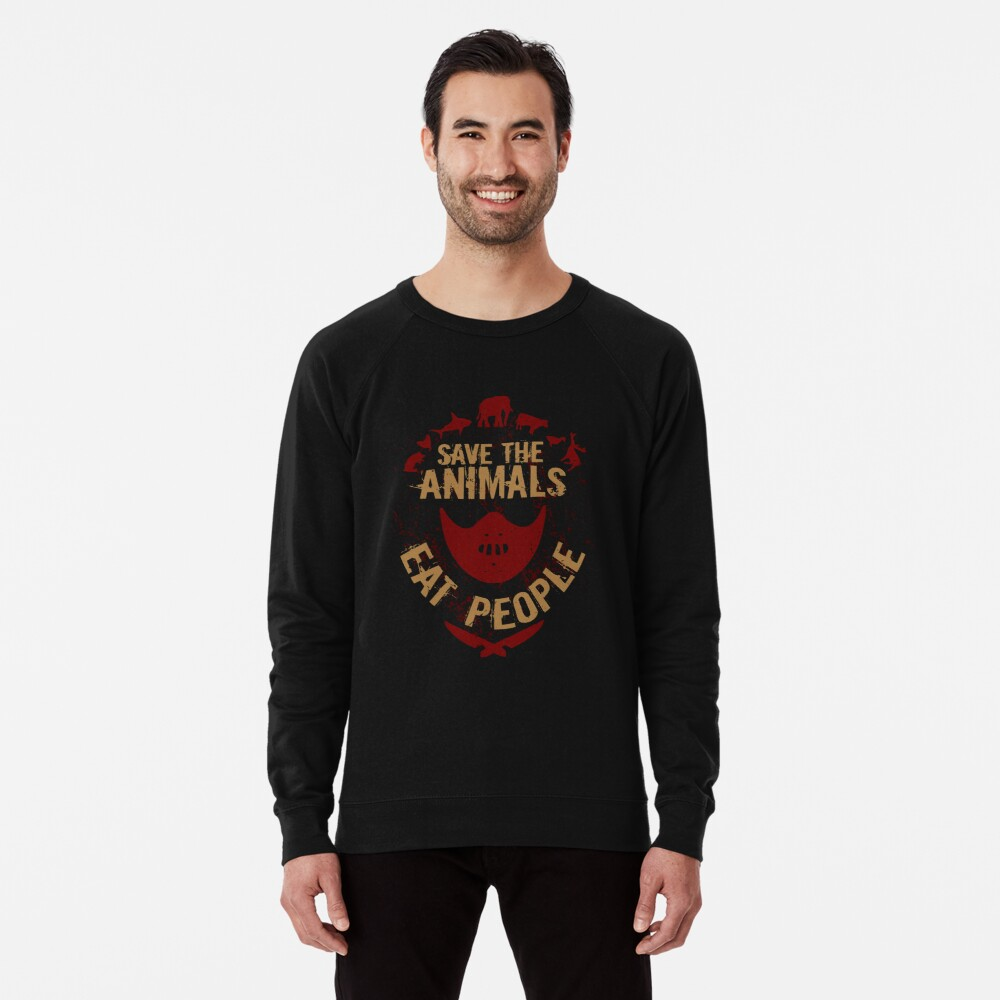 save the animals, EAT PEOPLE Lightweight Sweatshirt