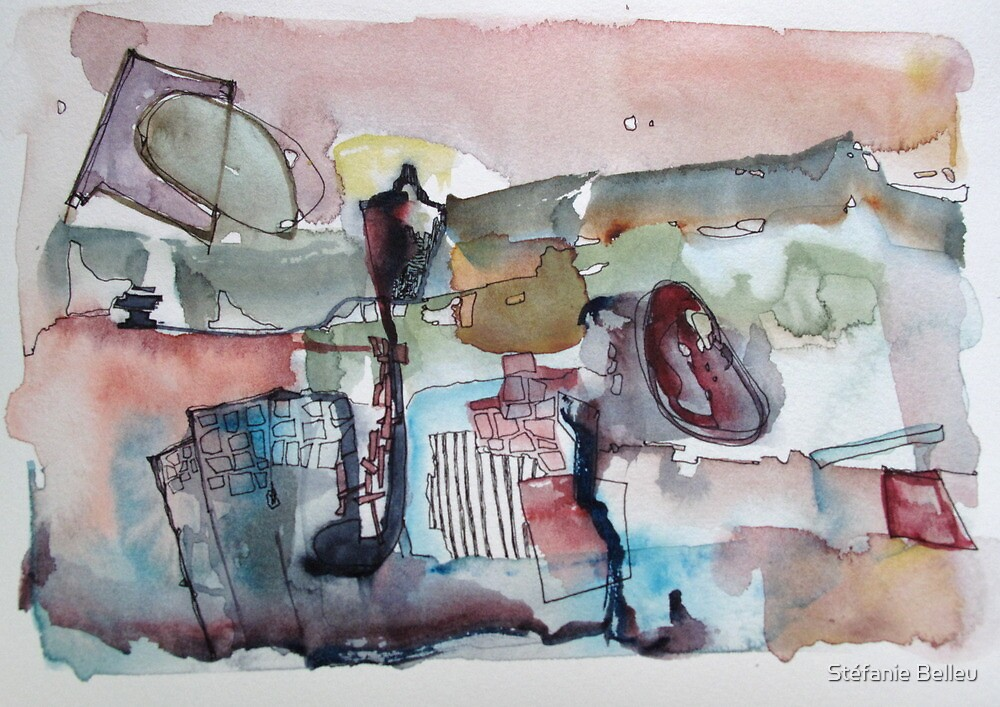 Walking in the city by Stéfanie Belleu