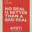 No Deal Poster by NYET! - a Brexit UK Border Farce