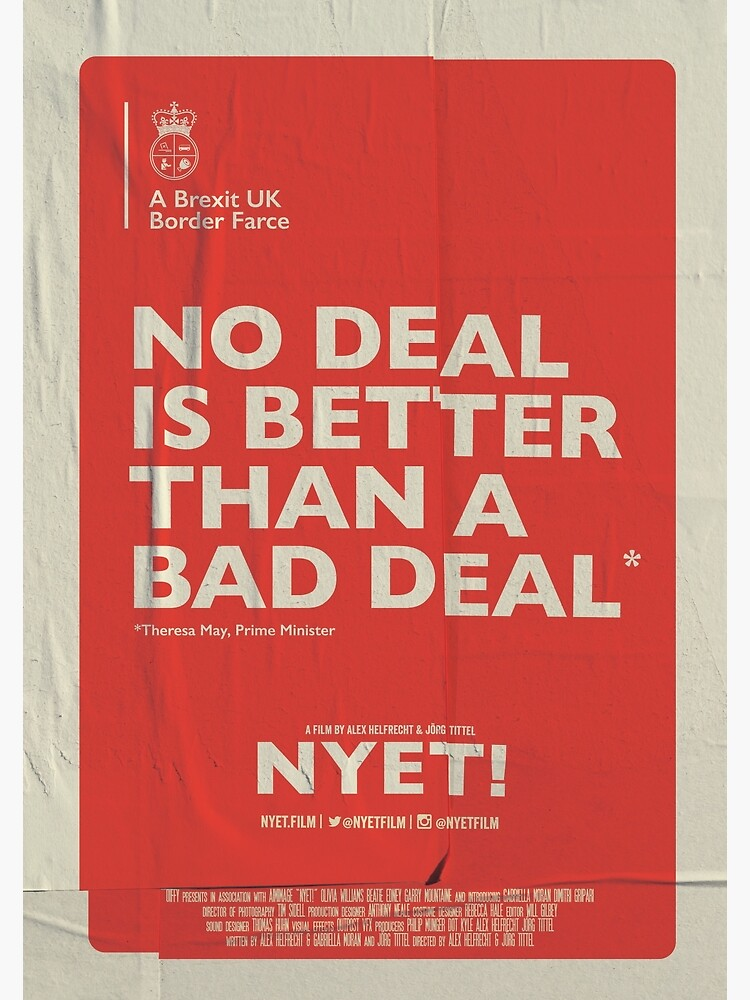 No Deal Poster by nyetfilm