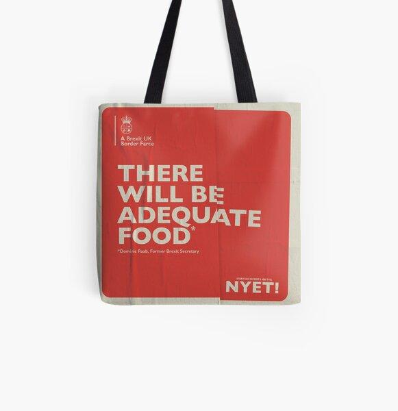 Adequate Food Tote All Over Print Tote Bag
